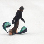 Steampunk Snowboard at Arapaho Basin