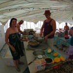 Heebee Camp Kitchen at Burning Man